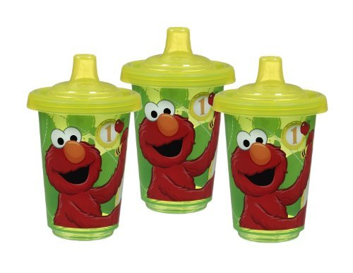 Munchkin 6 Pack Sesame Street Re-Usable Twist Tight Spill-Proof Cups, 10 Ounce, Colors May Vary - 1