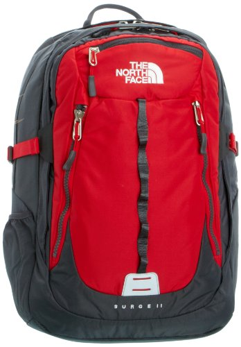 The North Face Surge Ii Daypack Tnf Red Asphalt Grey O S