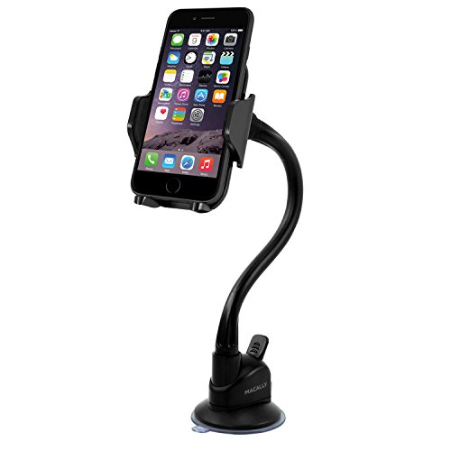 Macally mGrip Adjustable Suction Cup Holder for iPhone, iPod, Smartphones, MP3 and GPS - Black