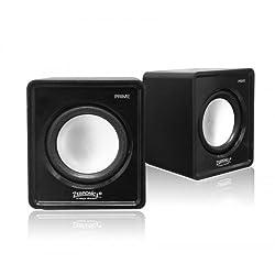 Zebronics Prime 2 2.0 Multimedia Speakers (Black)