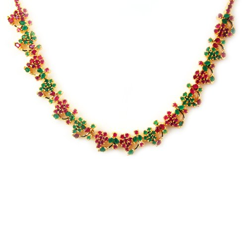 Nipuna Multicolour Gold Plated Necklace Set For Women (NI - NLGDSPMC10-00029) (multicolor)