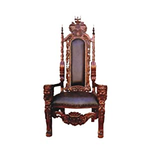 D-ART Royal Lion King Chair in Mahogany Wood