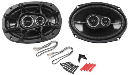 "Pair Kicker 41Dsc6934 6X9"" D-Series 360 Watts Peak/90 Watts Rms 3-Way Car Speakers Dsc693 With Thin-Profile Woofers"