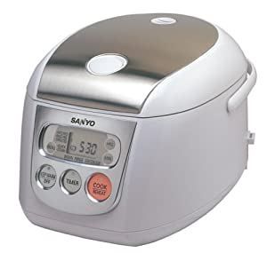 Sanyo ECJ-D55S 5.5-Cup Micro-Computerized Rice Cooker/Steamer