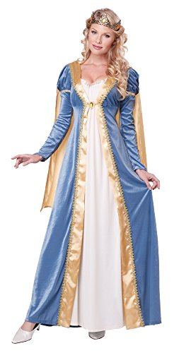 California Costumes Women's Elegant Empress Renaissance Lady Gown, Blue, X-Small