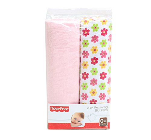 Fishe Price 2-pack receiving blanket (Pink-Floral)
