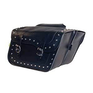 Wille & Max Luggage Saddlebag-Hi Pipe Stud Sb602-HIGH PIPE SERIES SADDLEBAG SET- STUDDED