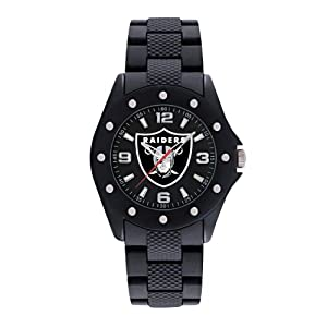 Game Time Mens NFL-BKA-OAK Oakland Raiders Breakaway Triple Black Analog Display... by Game Time