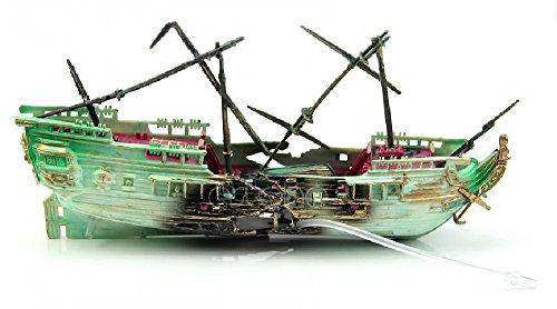 水槽 アクアリウム 沈没船 オブジェ 模型 置き物 リアル