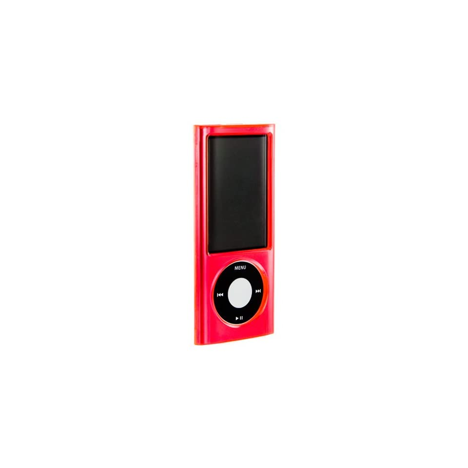 Hard Crystal Case Cover for Apple iPod Nano 5th Generation Newest Model 8GB 16GB pkg comes with screen protector + accessory pouch ( Player not included)