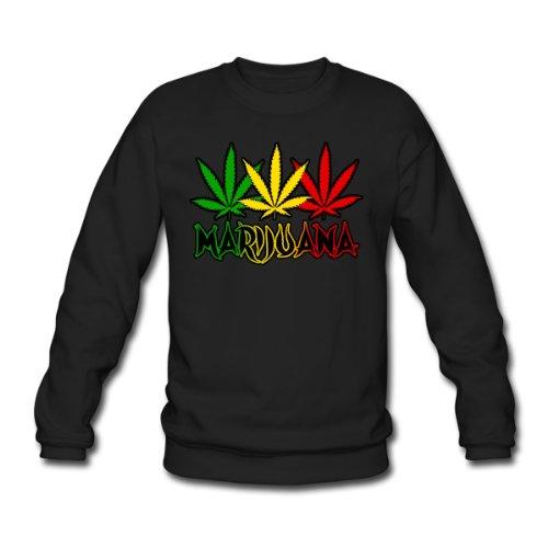 Spreadshirt, marijuana, Men's Sweatshirt, black, L