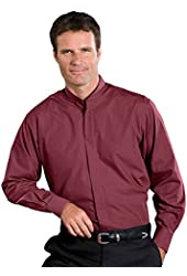 Edwards Men's Long Sleeve Banded Collar Shirt