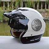 ZEUS381大人気/ジェットヘルメット/半帽/ハーフ/パイロット/バイクヘルメット/bike helmet/バイク用品/インナーサンバイザー付きL (57-58CM)