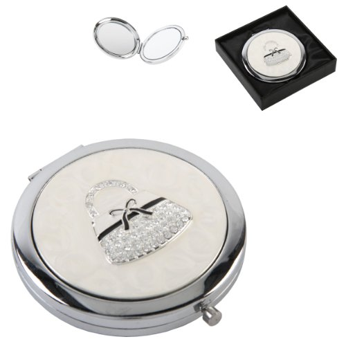 Silverplated Ladies Compact Mirror - Make a Fantastic
