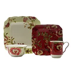 222 Fifth Lutece Square 16-Piece Dinnerware Sets by 222 Fifth