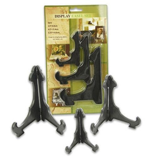 Plastic Black Easel 3 Pieces Small, Medium, Large Case Pack 48