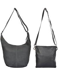 Ur Class Women's Handbag And Sling Bag (UC_18 + UC_22,Black )