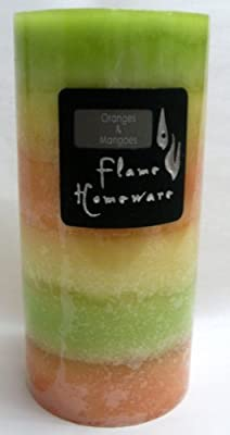 Medium Scented Pillar Candle Orange And Mango