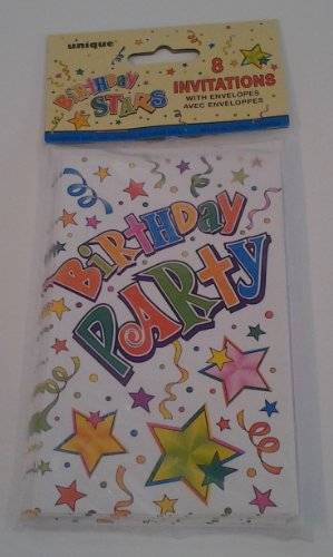 Birthday Stars Invitations
