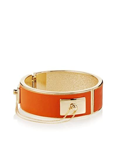Fragments Deep Orange Status Hinge Bangle