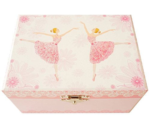 """Lily & Ally / Flower Ballerina Musical Jewelry Box, with Melody of """"Waltz of the Flowers / the Nutcracker"""""""