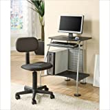 Computer Desk with Student Chair in Black