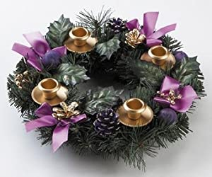 Advent Wreath - Purple Ribbon from Vermont Christmas