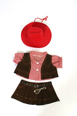 """Cowgirl Outfit Teddy Bear Clothes Fit 14"""" - 18"""" Build-A-Bear, Vermont Teddy Bears, And Make Your Own Stuffed Animals front-44469"""