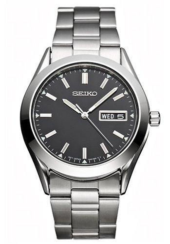 Seiko Mens Dress Silver-Tone Watch #SGF719