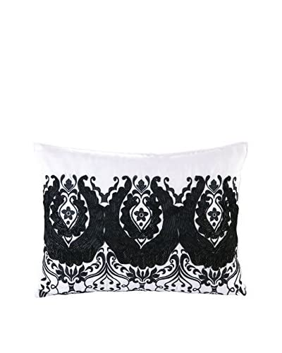Nanette Lepore Villa Peacock Decorative Pillow, Black/White