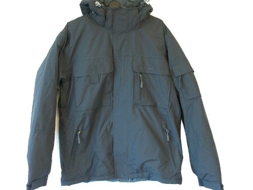 Mens Trespass KASIM Waterproof Coat Jacket Ebony UK Large 41 - 43 Chest