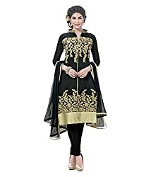 archon ecommerce party wear chanderi semi-stitched dress material,with lining