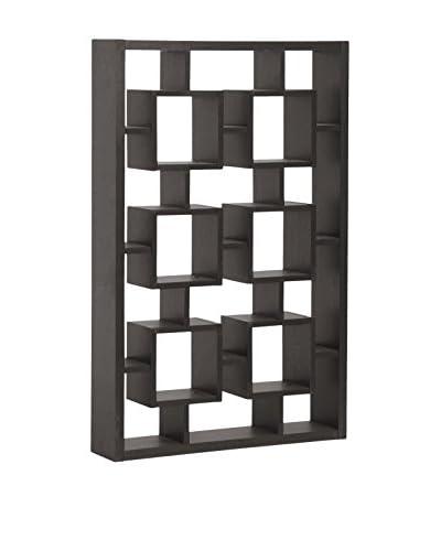 Baxton Studio Eyer Modern Display Shelf, Espresso