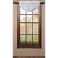 Country Style Tobacco Cloth Nutmeg Brown Valance Fringed 16x90