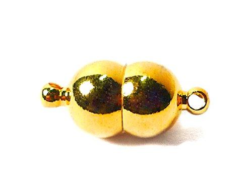 """Magnetverschluss """"Doppelkugel"""" in gold 8x17mm - 1 Stück"""