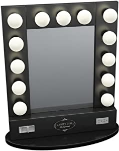 Broadway Lighted Vanity Mirror Review : Broadway Table Top Lighted Vanity Mirror 27