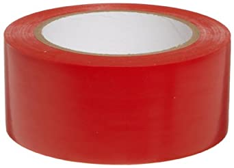 "Brady 58201, 108' Length, 2"" Width, B-7569 Vinyl Tape, Red Color Aisle Marking Tape"