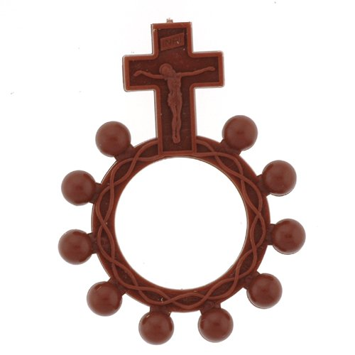 Finger Ring Rosary - Brown - MADE IN ITALY