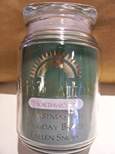 Scentsations NorthwoodsTriple Swirl Scented Candle (Christmas Tree, Holiday Breeze, Fallen Snow)