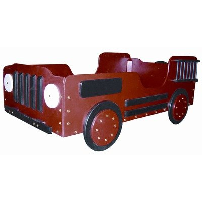 Fire Truck Wood Toddler Bed