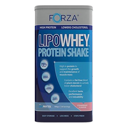 FORZA LipoWhey Protein Shake - Lowers Cholesterol - 908g (Strawberry)