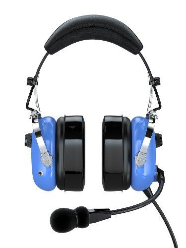 Faro G2-Pnr Premium Pilot Aviation Headset With Mp3 Input, Blue