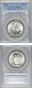 1946 50C PCGS-66+ Double Die. FINEST KNOWN! One certified, none higher!