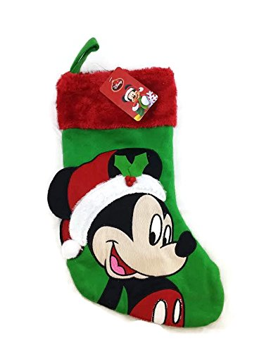Best Buy! Disney Mickey Mouse 18 Inch Big Face Stocking