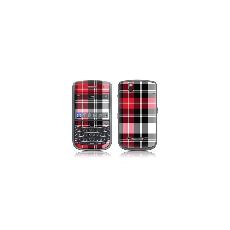 Red Plaid Design Skin Decal Sticker for Blackberry Bold 9650 Cell Phone Cell Phones & Accessories
