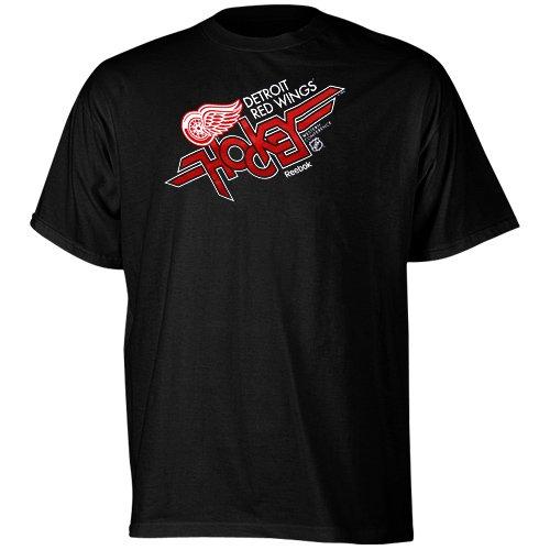 Reebok Detroit Red Wings Youth Vanguard T-Shirt - Black (Small)