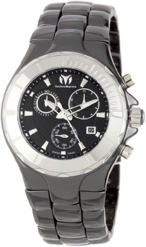 TechnoMarine Women's 110028C Cruise Ceramic Chronograph with Ceramic Bezel Watch