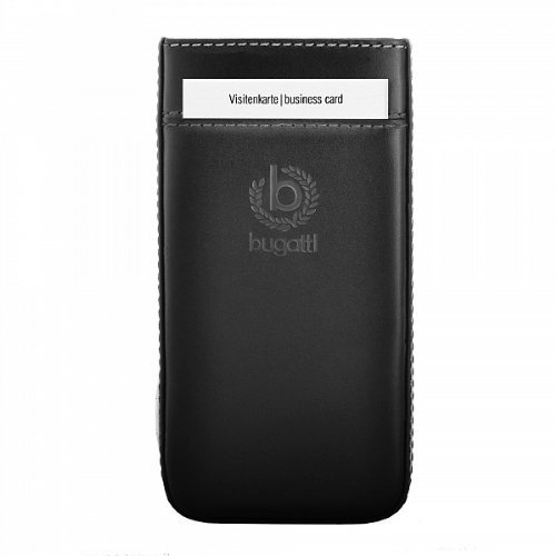 genuine-bugatti-black-pure-premium-leather-case-slide-in-case-cover-sleeve-pouch-bulk-pack-with-card