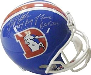 Floyd Little Autographed Hand Signed Denver Broncos TB Full Size Replica Helmet dual... by Hall of Fame Memorabilia