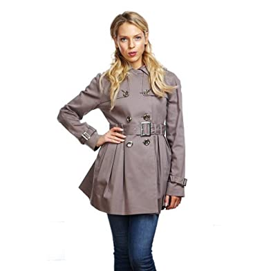 Anastasia - Cotton Womens Trench Belted Coat